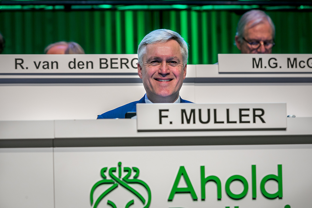Frans Muller, CEO on July first 2018,  Ahold Delhaize